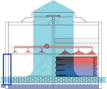 Estructura de fibra de vidrio