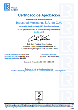 Torres ISO 9001:2015